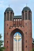 Kreuzkirche - Church in Kaliningrad (until  1946 Koenigsberg). Russia Stock Photos