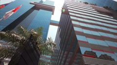 View Of FPB Bank Building In Panama City Stock Footage