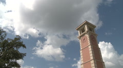 Time Flies Cloud timelapse and clock tower - stock footage