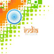 artistic indian flag - stock illustration