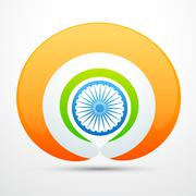 Stock Illustration of vector indian flag