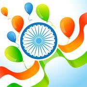 indian flag background - stock illustration