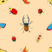Background of the insects - stock illustration