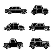 Vector vintage car silhouette. Piirros