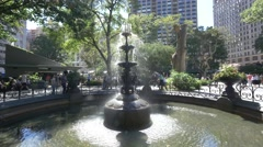 Fountain in Madison Sq. Park Stock Footage
