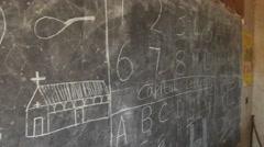 Stock Video Footage of Chalkboard Kenya pan