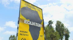 Equator sign Africa Stock Footage
