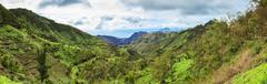Serra Malagueta mountains in Santiago Island Cape Verde - Cabo Verde - stock photo