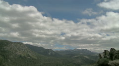 Cumulus above the Sierras - stock footage