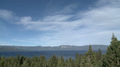 Cirrus over Lake Tahoe Stock Footage