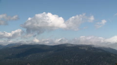 Cumulus over the Sierras Stock Footage