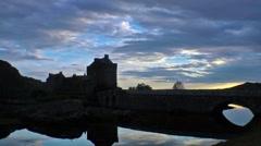Eilean Donan, Scotland -  time lapse Stock Footage