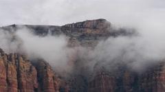 Desert Mountains in the Mist. 4K. Stock Footage