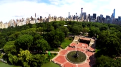 Aerial view on Bethesda fountain in Central Park - stock footage