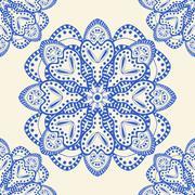 Blue seamless pattern Stock Illustration