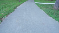 Walking on a Paved Trail POV Stock Footage