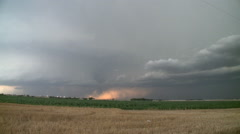 Classic Supercell storm over Kansas farmlands Stock Footage
