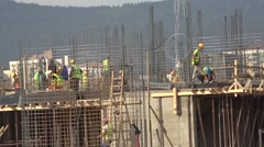 Construction work in progress Stock Footage