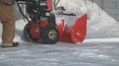 Snow Thrower Stock Footage
