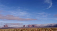 Desert Clouds in Winter near Monument Valley Stock Footage