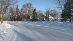 Winter in Minneapolis Suburbs After Storm Stock Footage
