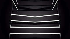 Black and White 3D Helix Cube Loop Stock Footage