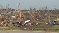 Nothing Remains in aftermath of destructive tornado - stock footage