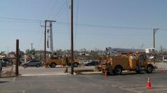 Restoring Utilities - Tornado Damage in Missouri - stock footage