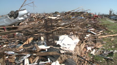 The Safest Place? Tornado Damage in Missouri Stock Footage