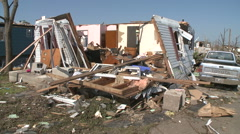 LitTLE Shelter - Tornado Damage in Missouri Stock Footage