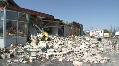 Crushing Blow - Tornado Damage in Missouri Stock Footage