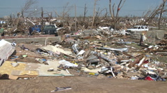 Everything's Gone - Tornado Aftermath Missouri - stock footage