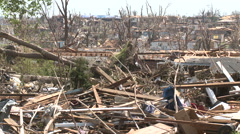 Totally Trashed - Tornado Damage in Missouri Stock Footage