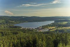 Lake Lipno in south Bohemia, Czech Republic, Europe - stock photo