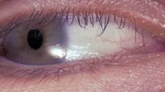 Stock Video Footage of Macro image of human eye