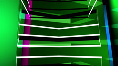 Colorful 3D Helix Cube Loop Background Stock Footage