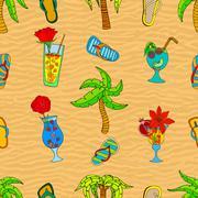 Summer seamless pattern Stock Illustration