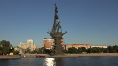 The Peter the Great monument (in 4k), Moscow, Russia. Stock Footage