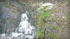 Rocky stream with bubbling water Stock Footage