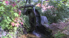 Hydropower Old Fashioned Water Wheel Mill Stock Footage