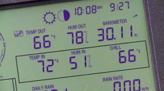 Weather Station Display Stock Footage
