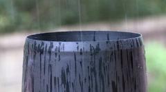 Rain Gauge measurement Stock Footage