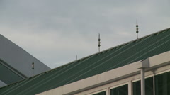 Lightning Rods on building roof - stock footage