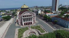Amazon Theater in Manaus, Brazil Stock Footage