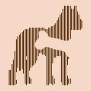 Animal hungry icon Stock Illustration