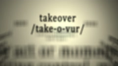 Definition: Takeover - stock footage