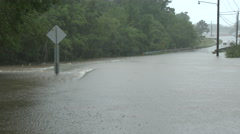Flooded Highway in Alabama Stock Footage