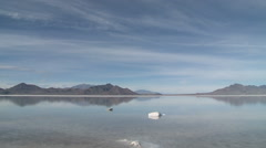 Bonneville Salt Flats Flooded - stock footage