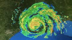 Hurricane Katrina Radar Graphic - stock footage
