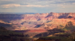 Grand Canyon, Arizona Clouds Moving over the Colorado River Stock Footage
